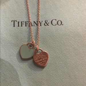 Tiffany Double Heart Tag Pendant